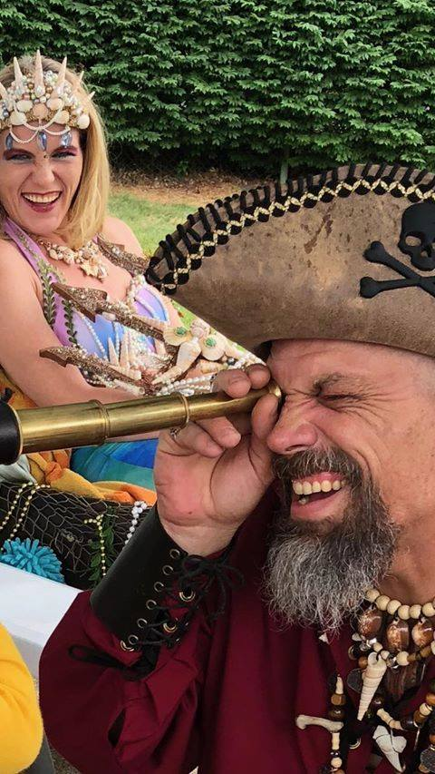 mermaid life with pirate cap'n