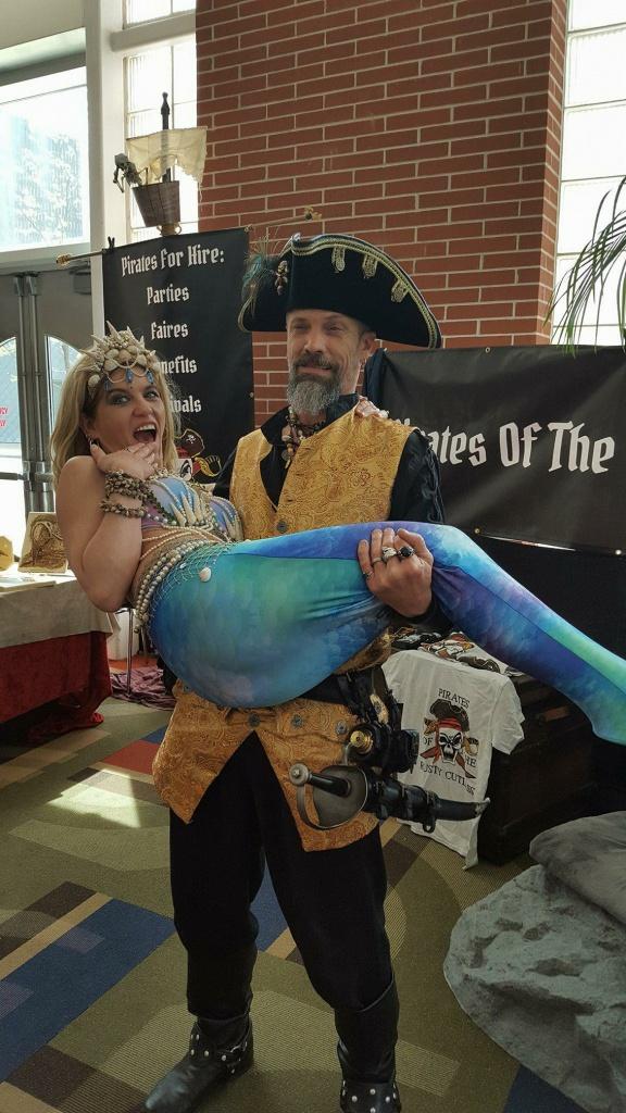 Northeast Ohio Mermaid Entertainer caught by Cap'n Blade!